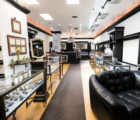 fagan diamond jewelers store interior