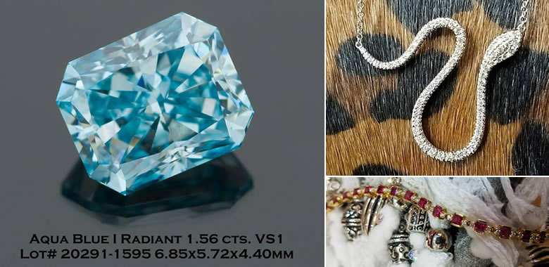 Huge 1.5CT Blue Diamond Gemstone In Stock